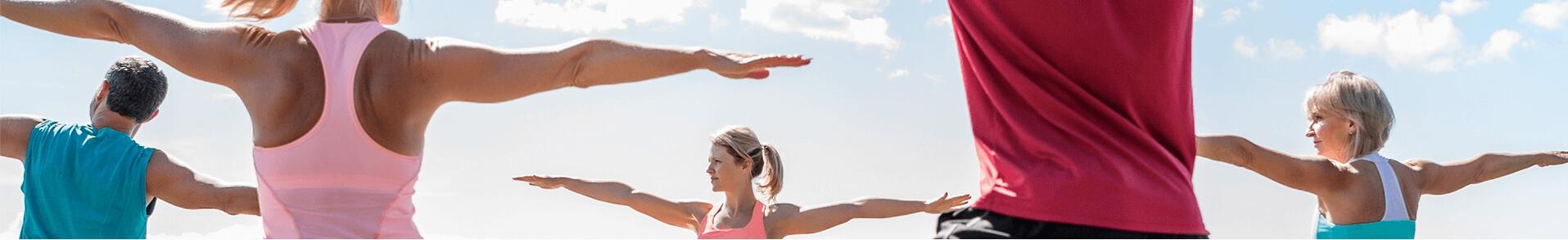 Outdoor spiritual yoga