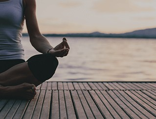 Relax by meditating