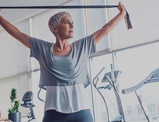 Women strengthening muscle